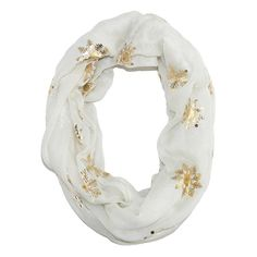 This lightweight snowflake scarf is the perfect accessory for the holiday season. It can be worn as a dress or casual option and would be the ideal addition to your Christmas party outfit.