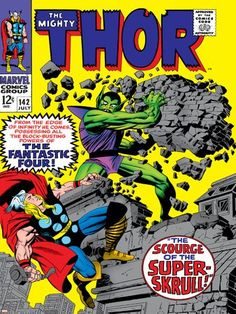 (12x16) Marvel Comics Retro: The Mighty Thor Comic Book Cover No.142 Scourge of the Super Skrull! P @ niftywarehouse.com