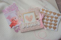 Baby Girl Photo Album First Year Baby Book Mini Scrapbook