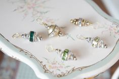 Miniature Crystal Oraments  Dollhouse Christmas by AutumnsRose, $8.50