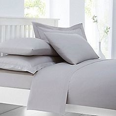 Home Collection - Silver cotton rich percale bed linen