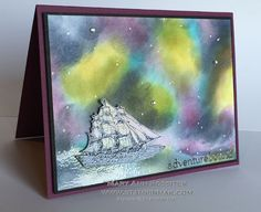 Open Sea Northern Lights by stampinmak - Cards and Paper Crafts at Splitcoaststampers