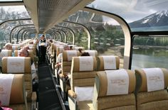 Rocky Mountaineer Gold Leaf dome cars probably give the best view of Canada's Rockies that you can get...
