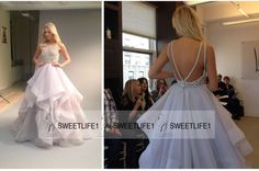 Sexy Open Back Beautiful Hayley Paige A Line Organza Wedding Dresses 2016 Popular Summer Beach Beaded Tiered Bridal Gowns With Crew Neck Online Wedding Dresses Petite Wedding Dresses From Sweetlife1, $144.15| Dhgate.Com