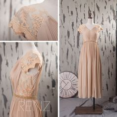 2015 New Lace and chiffon Bridesmaid dress, Wedding dress, Party dress,  Formal dress, Prom dress (T093) by RenzRags on Etsy https://www.etsy.com/listing/229145748/2015-new-lace-and-chiffon-bridesmaid