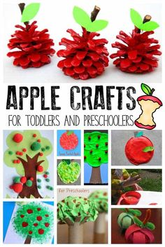 Celebrate early autumn with your toddlers and preschoolers by trying some of this apple crafts ideal for little hands to have a go at making. Apple Activities, Preschool Learning Activities, Autumn Activities, Toddler Preschool, Toddler Crafts, Diy Crafts For Kids, Preschool Activities, Art For Kids, Children Activities