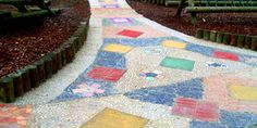 Stunning Path made with mosaic patterns