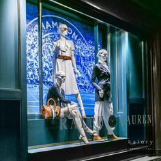 "RALPH LAUREN, New Bond Street, London, UK, ""Kathy... I will definitely marry a tennis player"", (Wimbledon Tennis Open"", pinned by Ton van der Veer"