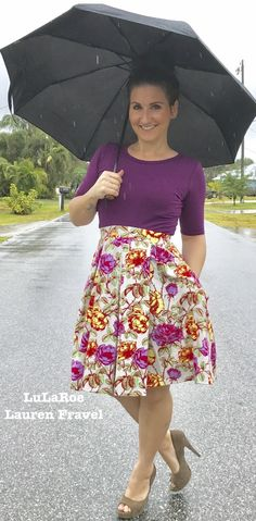 """""""Some days we have to make our own sunshine"""" I feel so beautiful in this LuLaRoe outfit. The Julia under a Lularoe Madison is such awesome lularoe style! The Madison has an elastic waist box pleats and best of all pockets! Https://www.facebook.com/groups/lularoelaurenfravel/"""