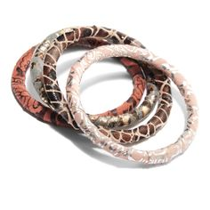 Fair Trade Metallic Fabric Bracelets