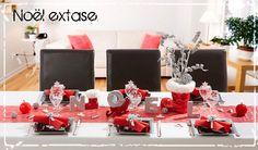 Déco de table rouge blanc argent - table de fêtes de noël et nouvel an | C Ma Déco