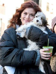 Debra Messing   #celebrities #pets #dogs