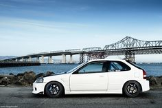 Really digging this build - Ryan Der's EK Civic Hatch, via Flickr.