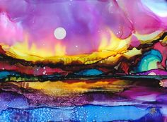 alcohol ink art - Google Search