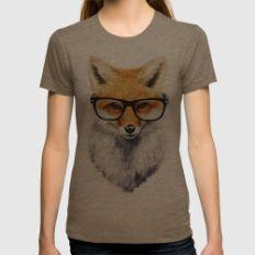 Mr. Fox Womens Fitted Tee Tri-Coffee MEDIUM