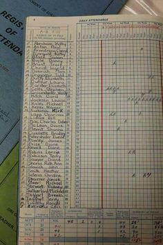 School register - after it was taken someone would be assigned the very important and much coveted job of delivering it to the head's office :)