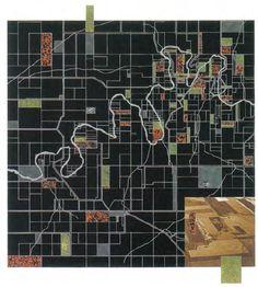James Corner, The survey Landscape Accrued. As medidas da terra. A pesar da aplicação mecânica e repetitiva da divisão da terra, uma grande variedade na paisagem tem evoluído no tempo. Fonte: Corner e MacLean (1996)