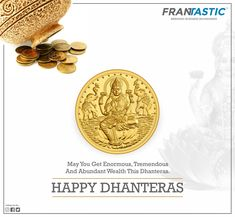 May Goddess Lakshmi bless your to do well in spite of all odds like, the enduring charms of and Wish you all a very Happy from team Frantastic. May Goddess Lakshmi bless your to do well in sp Creative Poster Design, Creative Posters, Diwali Poster, Happy Dhanteras, Goddess Lakshmi, Wish, Charms, Blessed, Diamonds