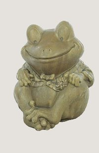 Concrete Garden Statuary-Plaid Coat Frog