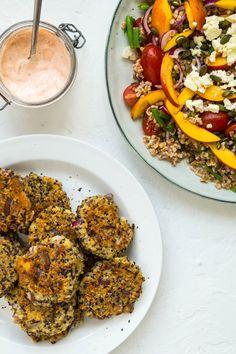 Quinoafrikadeller - vegetariske deller med quinoa og feta