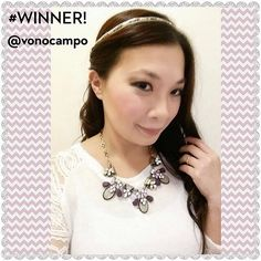 The lovely vonocampo wearing one of her #Win Grab Bag pieces.  Tag your FB and Instagram pics wearing your YBB jewelry with #yourbijouxboxstyle to #Win. A winner is announced each month!
