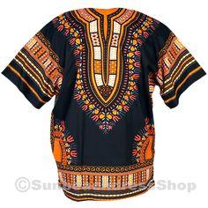 dashiki african style shirt dashiki printed front and back two