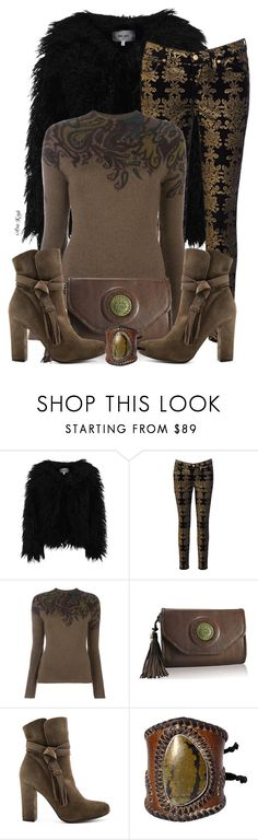 """""""Vintage age"""" by ana-kreb ❤ liked on Polyvore featuring Dry Lake, 7 For All Mankind, Etro, Pura López and vintage"""