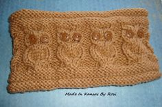 Owl Headband/Earwarmer from Made In Kansas By Rosi... on Facebook