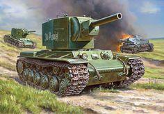 Soviet Assault Tank: KV-2
