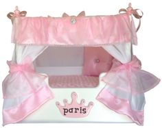 This Princess Canopy pet bed is great for the pampered princess pet in your home. Available in large and small. This is a classy pet bed that your dog or cat will not want to go without! www.PrincessCanopyBeds.com www.ILoveMyPetBed.com