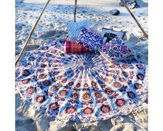 Indian Hippie Roundie Boho Beach Mandala Tapestry Wall Hangings Beach Picnic Blanket Yoga Mat Table Cloth Bohemian Bedspread Dorm Decor