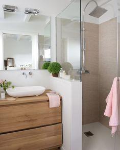 Bathroom with shower cabin - . - cabin - Badezimmer mit Duschkabine – – Bathroom with shower cabin – … – cabin Cabin Bathrooms, Small Bathrooms, Small Bathroom Ideas, Colorful Bathroom, Complete Bathrooms, Modern Bathrooms, Master Bathrooms, Bath Ideas, Shower Cabin
