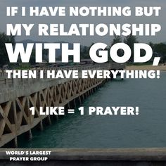 My relationship with God