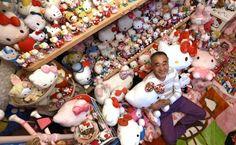 Expolicía de Japón tiene la colección de Hello Kitty más grande del mundo