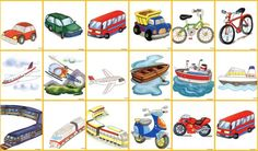 Speech Therapy, Bingo, Preschool Activities, Phonics, Transportation, Homeschool, Clip Art, Kids Rugs, Cards