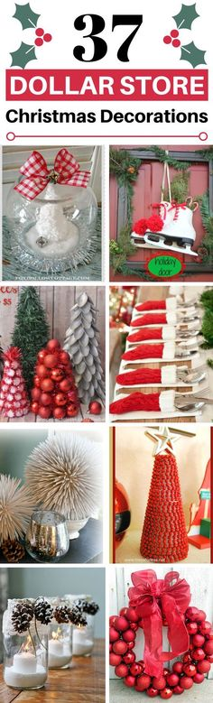 These 37 Dollar Store Christmas Decoration Ideas Are So CUTE! I love how cheap and easy these are to copy!