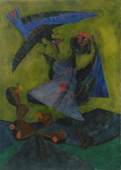 Rufino Tamayo. Girl Attacked by a Strange Bird. 1947