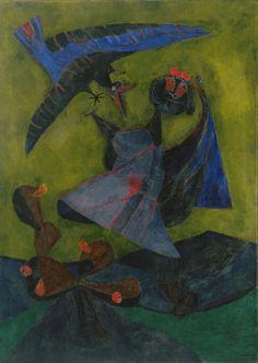 Rufino Tamayo. Girl Attacked by a Strange Bird. 1947
