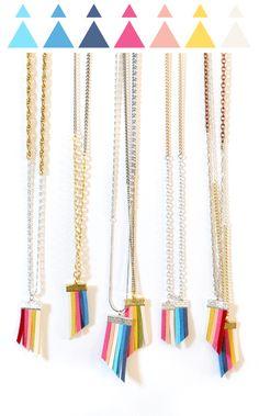 Suede Fringe Necklaces