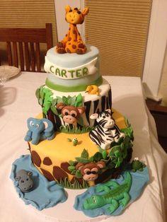 Fondant Jungle cake by Debi Tupper