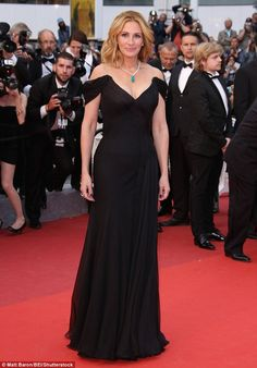 Julia donned a glamorous black gown to attend the Cannes Film Festival premiere of her previous film Money Monster on May 12