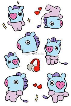 'Mang' by myoneandonly Doodle Tattoo, Doodle Art, Cute Stickers, Tumblr Stickers, Cute Kawaii Drawings, Bts Drawings, Bts Chibi, Bts Wallpaper, Cute Wallpapers
