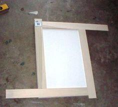 tutorial on adding trim to plain cabinet doors.