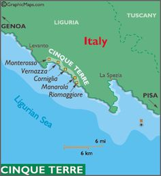 cinque terre map and information italy. A series of Italian Viillages between Genoa and Pisa. Between villages of Riomaggiore and Monterossa. Take the train to La Spezia Pisa, Italy Map, Tuscany Italy, Genoa Italy, Sorrento Italy, Italy Italy, Naples Italy, Italy Vacation, Italy Travel