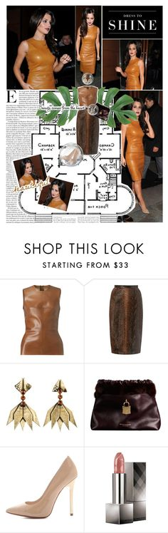 """""""Cheryl Cole Leaving Zuma Restaurant"""" by unionsparkles ❤ liked on Polyvore featuring Levi's, Burberry, DANNIJO, KORS Michael Kors, LOVA, pointed-toe flats, pointed-toe pumps, clip-on earrings, teardrop earrings and snakeskin"""