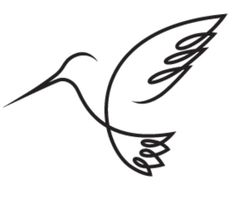 hummingbird tattoo - One continuous line. For mom if she ever decides to get a tattoo Tattoo Und Piercing, Get A Tattoo, Tattoo Mom, One Line Tattoo, Single Line Tattoo, Single Line Drawing, Future Tattoos, Skin Art, Quilting Designs