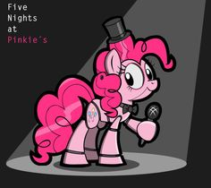 FNaP 1 Redesign: Pinkie Pie (Freddy) by KingToby19