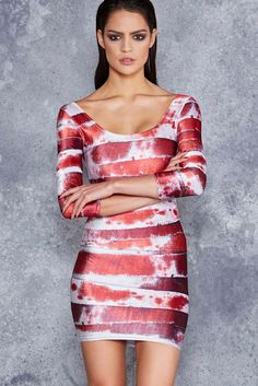 Bleeding Mummy Velvet 3/4 Sleeve Dress - LIMITED ($99AUD) by BlackMilk Clothing