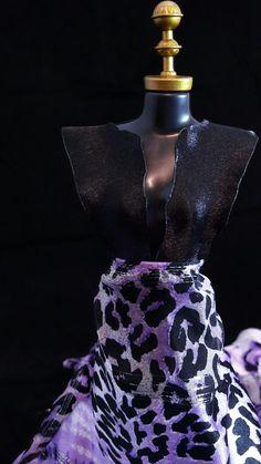 Vestido Roxo Oncinha #dress #doll #vestido #boneca #purple #oncinha #roxo #closeup