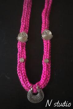 #silkthread #hmadmade necklace #Qatar #fashion #indianstyle